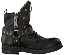 Schwarze Replay Biker Boots Rl260060L Fairview
