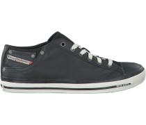 Schwarze Diesel Sneaker Magnete Exposure LOW