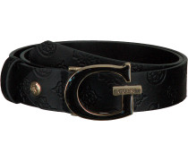 Schwarze Guess Gürtel Logo Love Adjustable Belt
