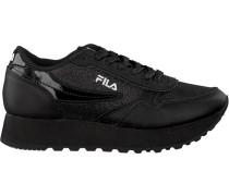 Schwarze Fila Sneaker Orbit Zeppa Glam