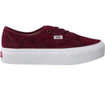 Rote Vans Sneaker Authentic Platform WMN