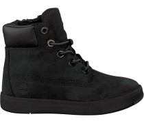 Schwarze Timberland Ankle Boots Davis Square 6 Kids