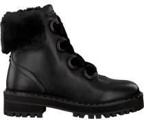 Schwarze Liu Jo Biker Boots Bikers Calf Leather