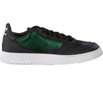 Schwarze Adidas Sneaker Low Supercourt W