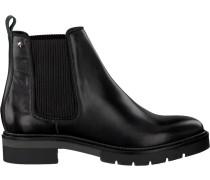 Schwarze Chelsea Boots Metallic Leather Chelsea Boot