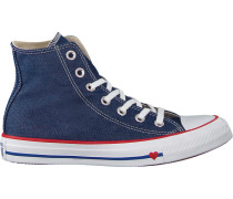 Rote Sneaker Chuck Taylor ALL Star HI Dames