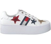 Weiße Tommy Hilfiger Sneaker TOMMY JEANS ICON SPARKLE JEANS
