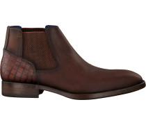 Cognacfarbene Braend Chelsea Boots 24986