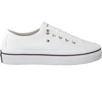 Weiße Sneaker Corporate Flatform Sneaker