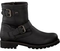Schwarze Panama Jack Biker Boots Felina Igloo B11