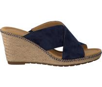 Blaue Gabor Pantolette 829