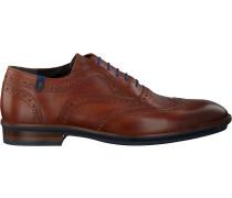 Cognacfarbene Floris Van Bommel Business Schuhe 19048