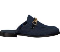 Blaue Loafer Feminine Denim Slip ON Loafer