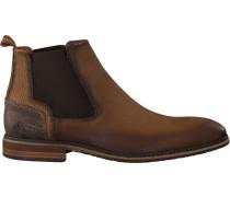 Cognacfarbene Braend Chelsea Boots 24601