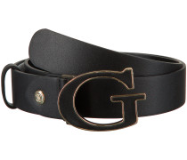 Schwarze Guess Gürtel Kerrigan Adjustable Pant Belt