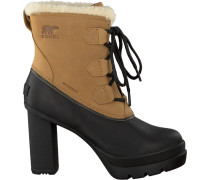 Camelfarbene Sorel Ankle Boots Dacie Lace