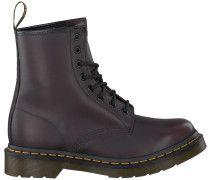 Rote Dr Martens Ankle Boots 1460