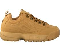 Beige Fila Sneaker Disruptor LOW WMN