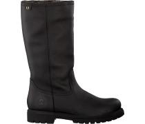 Schwarze Panama Jack Hohe Stiefel Bambina B60
