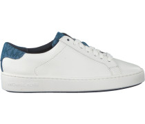 Weiße Michael Kors Sneaker Irving Lace UP