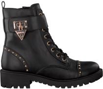 Schwarze Guess Ankle Boots Flhoe4 Ele10