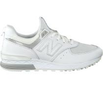 Weiße New Balance Sneaker Ws574 WMN