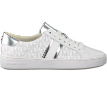 Weiße Michael Kors Sneaker Low Irving Stripe Lace Up