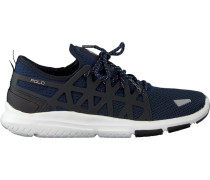 Blaue Polo Ralph Lauren Sneaker Train200 Dames