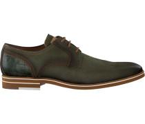 Grüne Braend Business Schuhe 15700