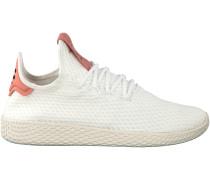 Weiße Adidas Sneaker PW Tennis HU Damen