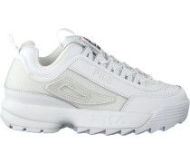 Weiße Fila Sneaker Disruptor II Patches WMN