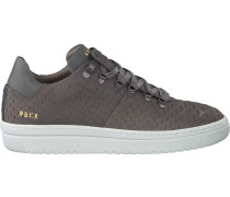 Graue Nubikk Sneaker Yeye Python