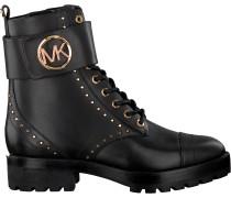 Schwarze Michael Kors Schnürboots Tatum Ankle Boot