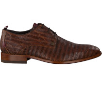 Braune Rehab Business Schuhe Greg Snake Stripes
