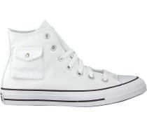Converse Sneaker High Chuck Taylor As Pocket Hi Weiß Damen