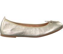 Goldfarbene Unisa Ballerinas Acor
