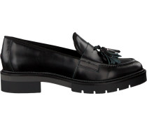Schwarze Loafer Metallic Leather Loafer