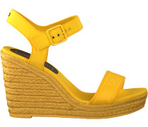 Gelbe Tommy Hilfiger Sandalen Colorful Tommy Wedge Sandal