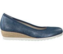Blaue Gabor Slipper 641