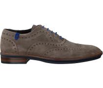 Taupe Floris Van Bommel Business Schuhe 19048