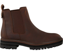 Braune Timberland Chelsea Boots London Square Double Gore