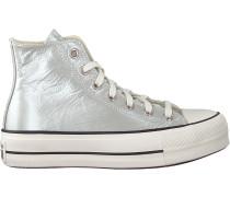 Converse Sneaker High Chuck Taylor All Star Lift Hi Silber Damen