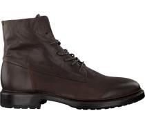 Braune Blackstone Schnürschuhe Mm08