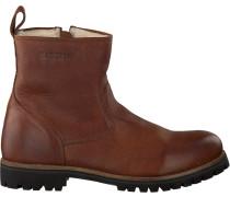 Cognacfarbene Blackstone Ankle Boots Om63
