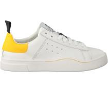 Weiße Diesel Sneaker S-Clever LOW W
