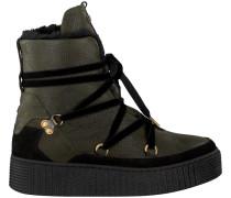Grüne Winterstiefel Cozy Warmlined Leather Boot