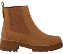 Cognacfarbene Chelsea Boots Courmayeur Valley CH