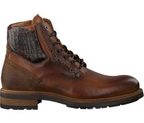 Cognacfarbene Rehab Schnürboots Neal Croco Army