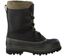 Schwarze Sorel Ankle Boots Caribou WL