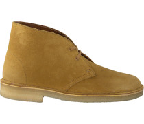 Gelbe Clarks Ankle Boots Desert Boot Dames